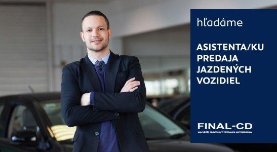 Asistent / Asistentka predaja jazdených vozidiel