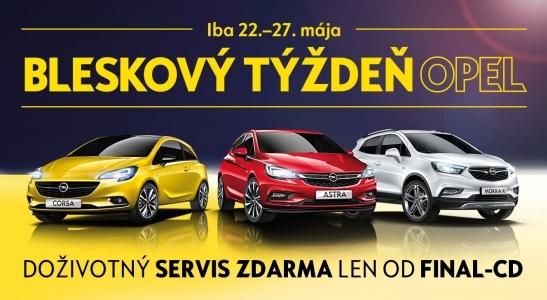 Bleskový týždeň Opel