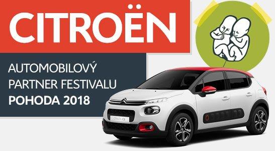 CITROËN automobilový partner festivalu POHODA 2018