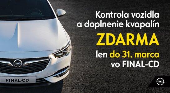 Kontrola Opel ZDARMA