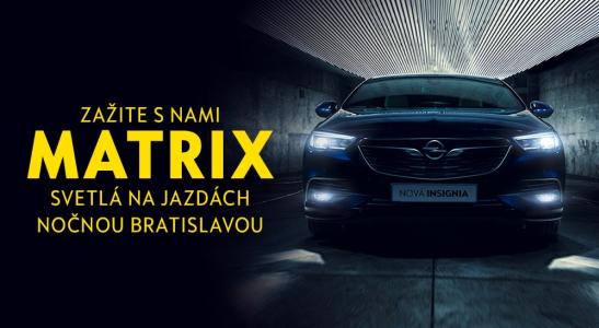 Zažite s nami MATRIX svetlá na jazdách nočnou Bratislavou