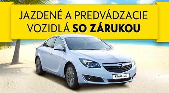 Výpredaj predvádzacích a jazdených vozidiel OPEL so zárukou
