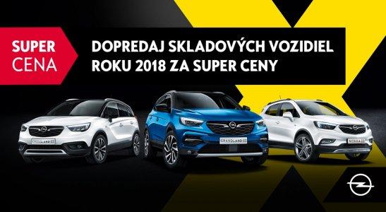 Dopredaj skladových vozidiel roku 2018 za super ceny