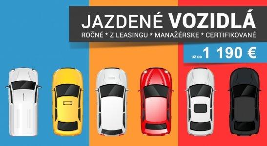 Ponuka jazdených vozidiel už od 1 190 €