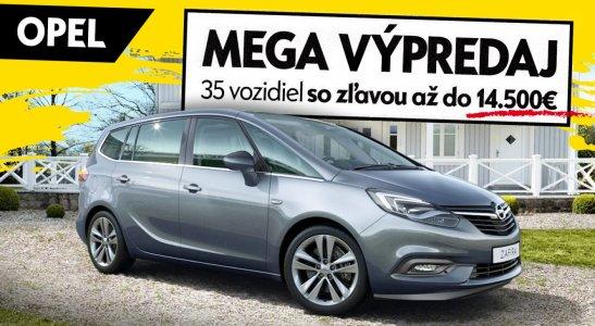 OPEL MEGA VÝPREDAJ - 35 vozidiel so zľavou až do 14.500€