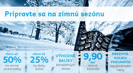 Zimné pneumatiky pre váš PEUGEOT so zľavou až 50%
