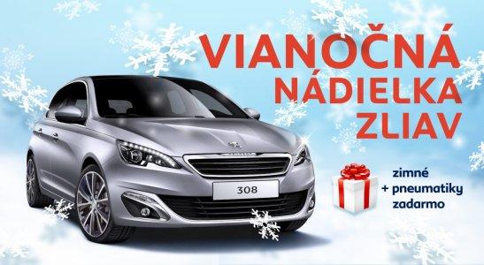 Vianočná ponuka automobilov Peugeot