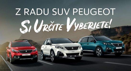 Z radu Peugeot SUV si určite vyberiete!