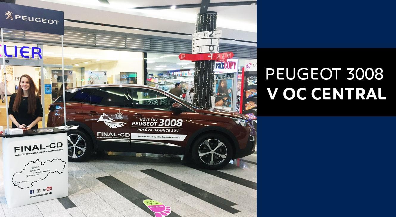 Nový PEUGEOT 3008 v OC CENTRAL