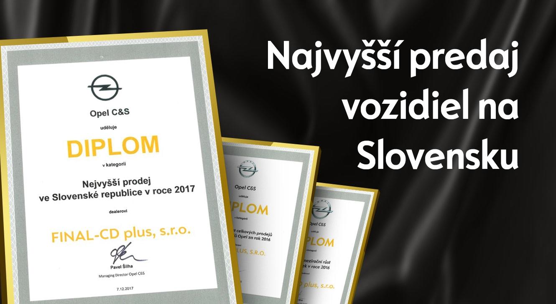 Sme NAJLEPŠÍ OPEL na Slovensku!