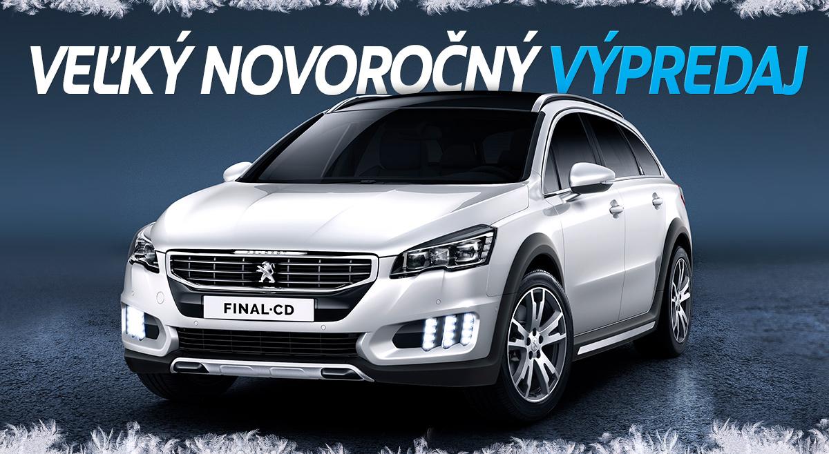 Veľký novoročný výpredaj Peugeot
