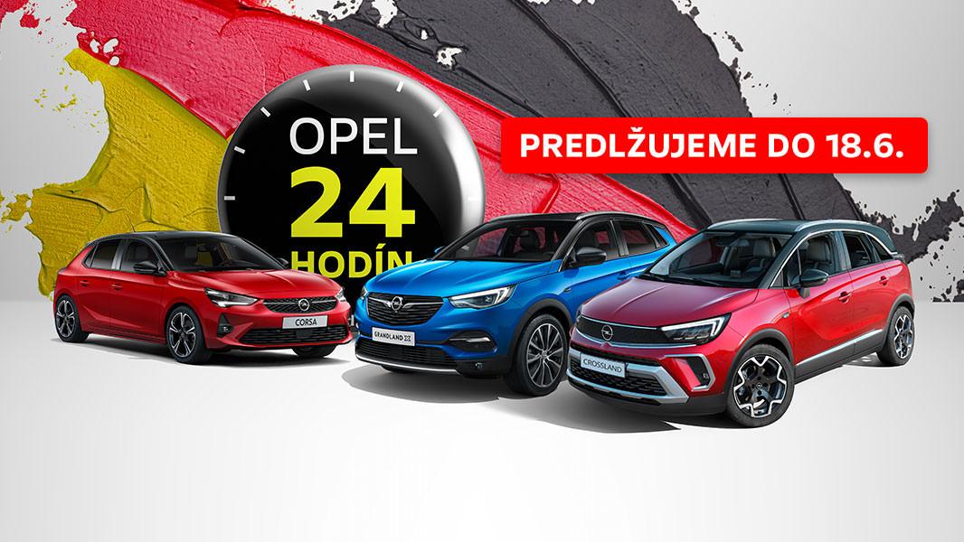 Opel 24 HODÍN<br>11. – 12. JÚN 2021