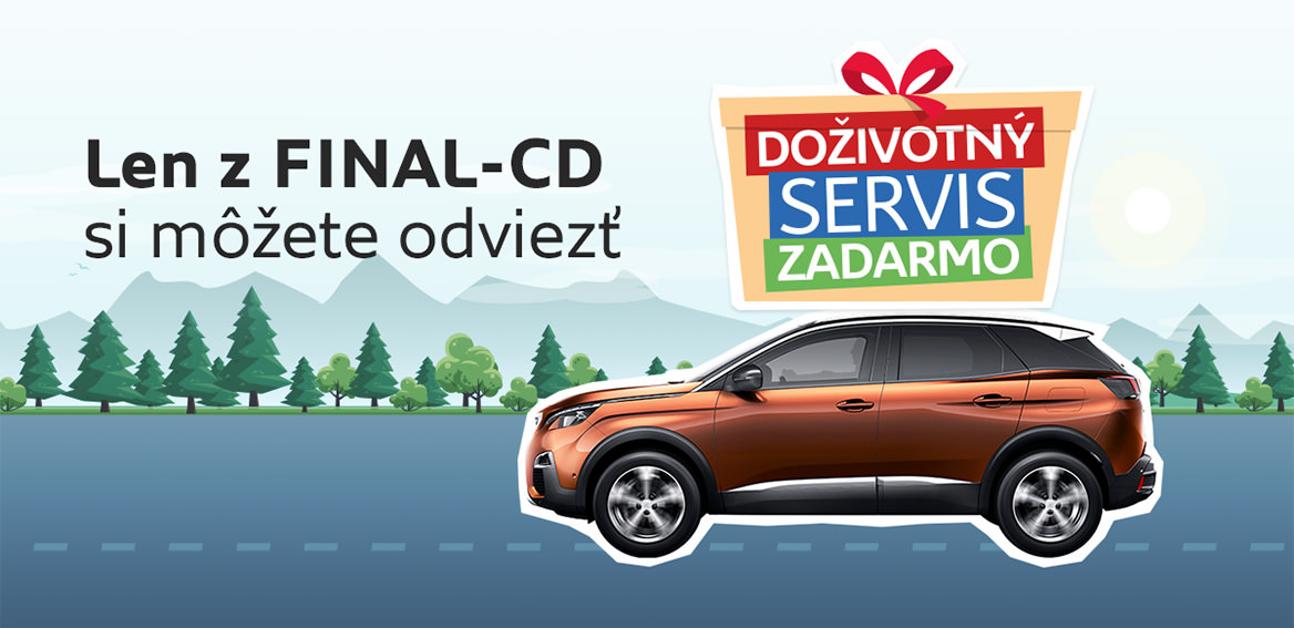 S FINAL-CD máte doživotný servis ZADARMO!