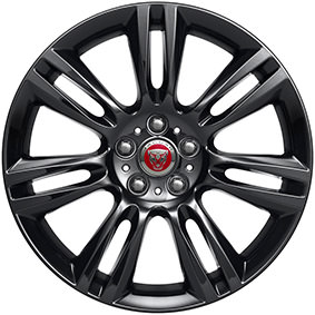 "18"" STYLE 7009 7 SPLIT SPOKE GLOSS BLACK"