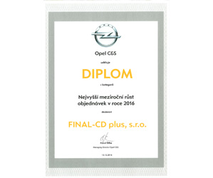Opel najvyšší nárast objednáviek za rok 2016